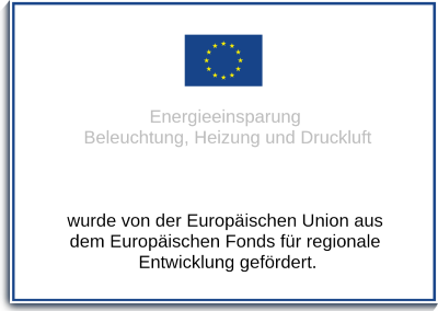 Plakat für EU Förderung